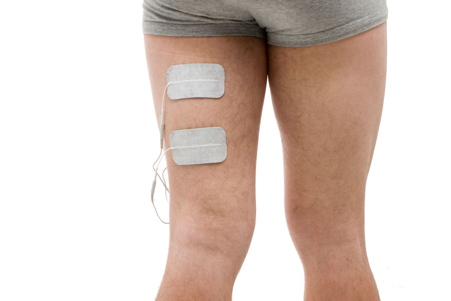 hamstring injury electrode placement