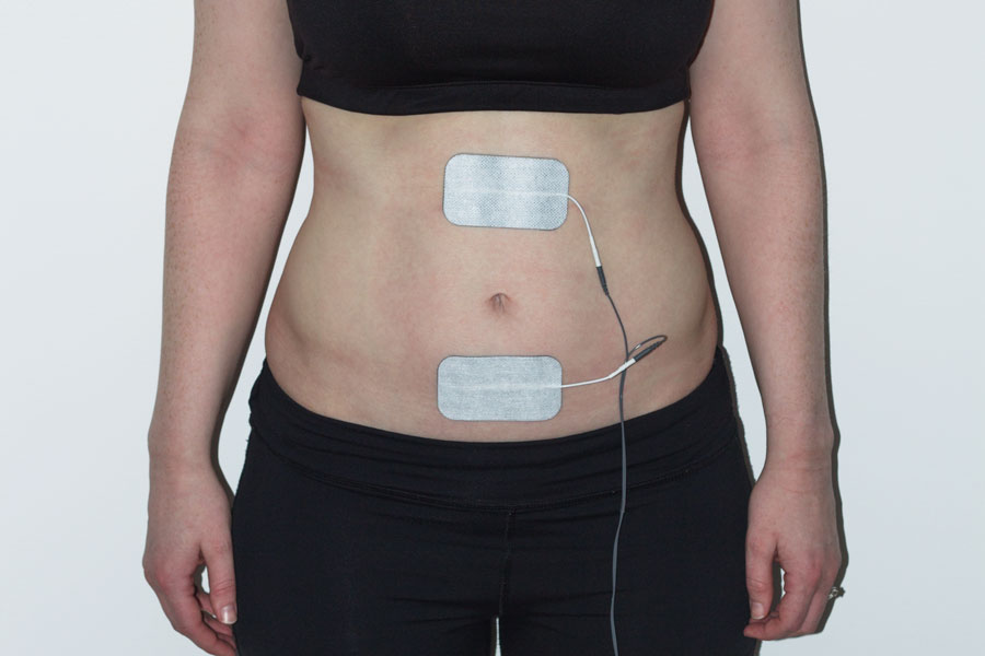 Abdominal electrode placement