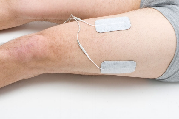 quadriceps electrode placement