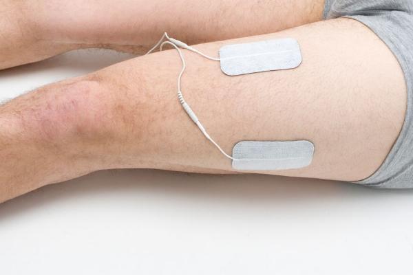 quadriceps electrode placement