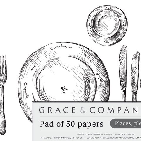 Grace Papers set of 50 sheets - Grace & Company pad of 5o papers. Great as placemats, give wrap, and more!