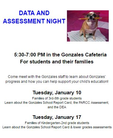 Come learn about the Common Core Standards, data, and assessment at your child's grade level, so that you are better able to support your child with learning!