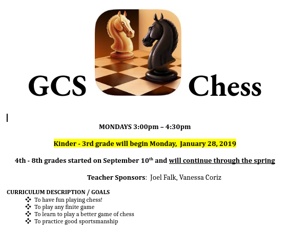 Chess Club for Students