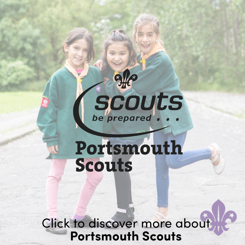 I'm also proud to be a volunteer with Portsmouth Scouts, as an Assistant Scout Leader. Scouting in Portsmouth opens up a range of activities to around 1,000 people.