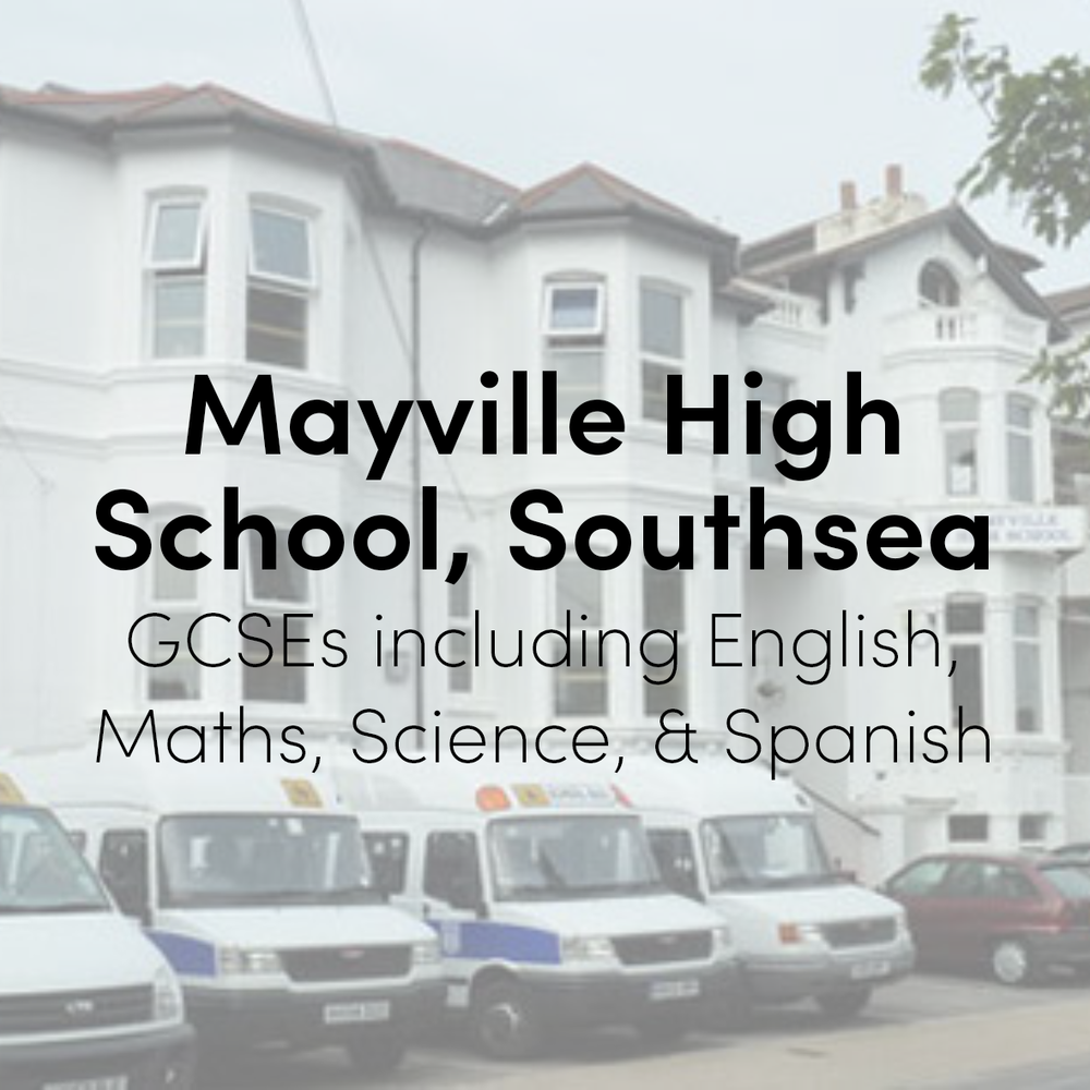 Mayville High School, Southsea  (2008 - 2013)  GCSEs including English, mathematics, science, Spanish, ICT, history and drama.