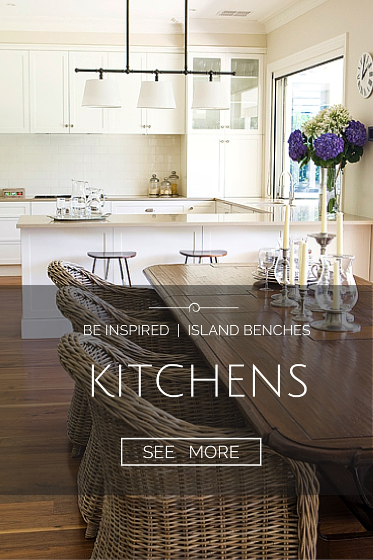 Be Inspired - Island Benches and Kitchens