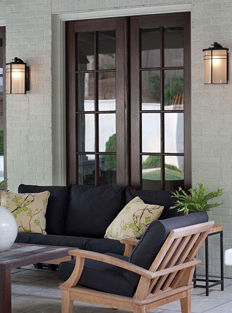 Ledgewood Bronze Outdoor Wall Lantern