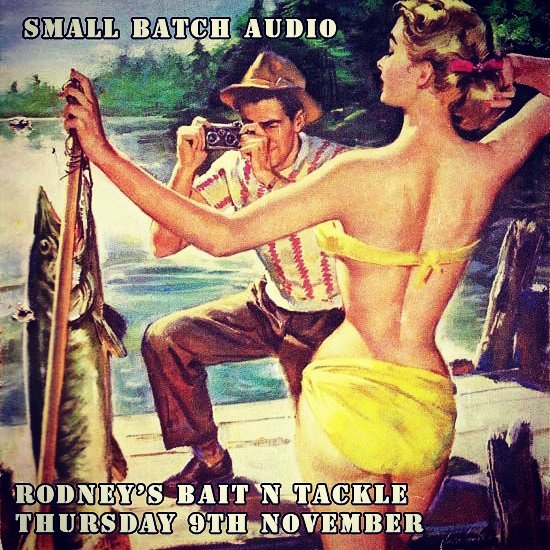 We're playing at Rodney's Bait n Tackle on Thurday Nov 9th.