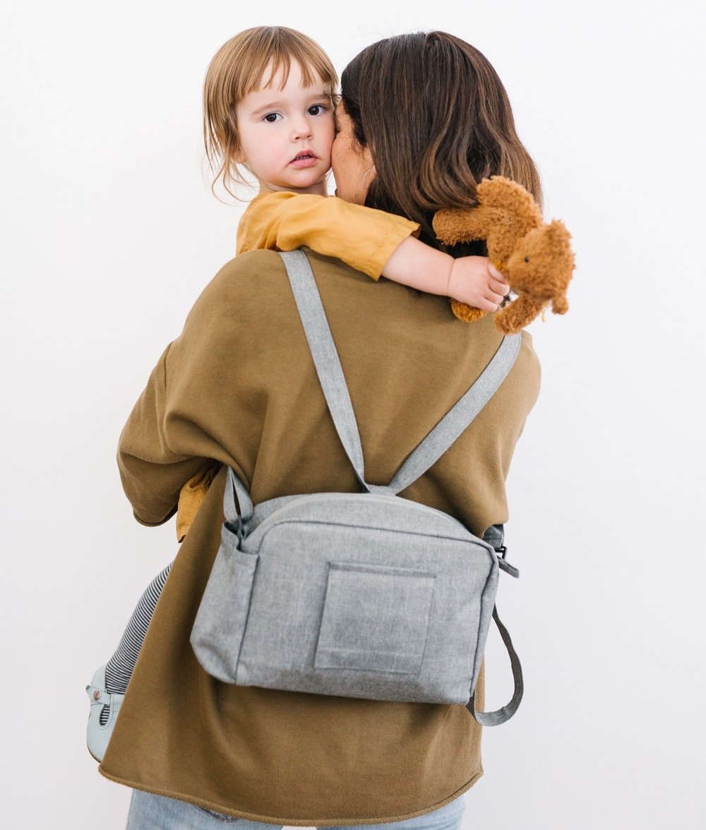 You've got your hands full? We've got your back! Our favorite new feature - one quick adjustment and your Georgie Bag turns into a mini backpack. Perfect for that impromptu bike ride or hike.