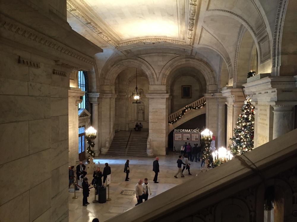 New York Public Library Christmas Tree, New York, New York