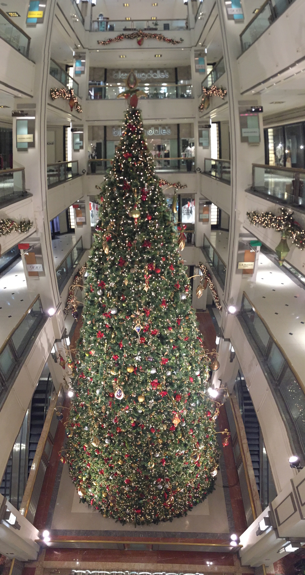 Christmas Tree in Bloomingdales, Chicago, Illinois