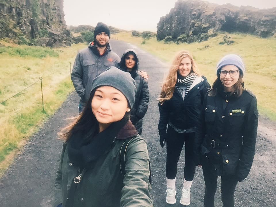 Selfies with a fantastic group of friends, þingvellir National Park, Iceland  Photo Credit: Debbie Bang