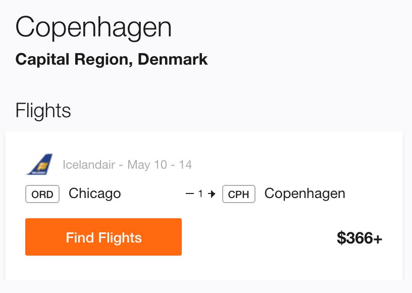 Chicago to Copenhagen