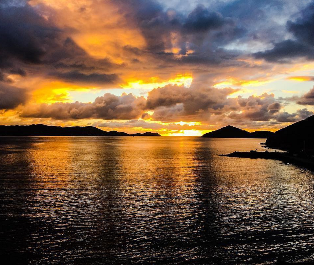 Sunrise over St. John from St. Thomas, U.S. Virgin Islands | Photo Credit: @surfoakland