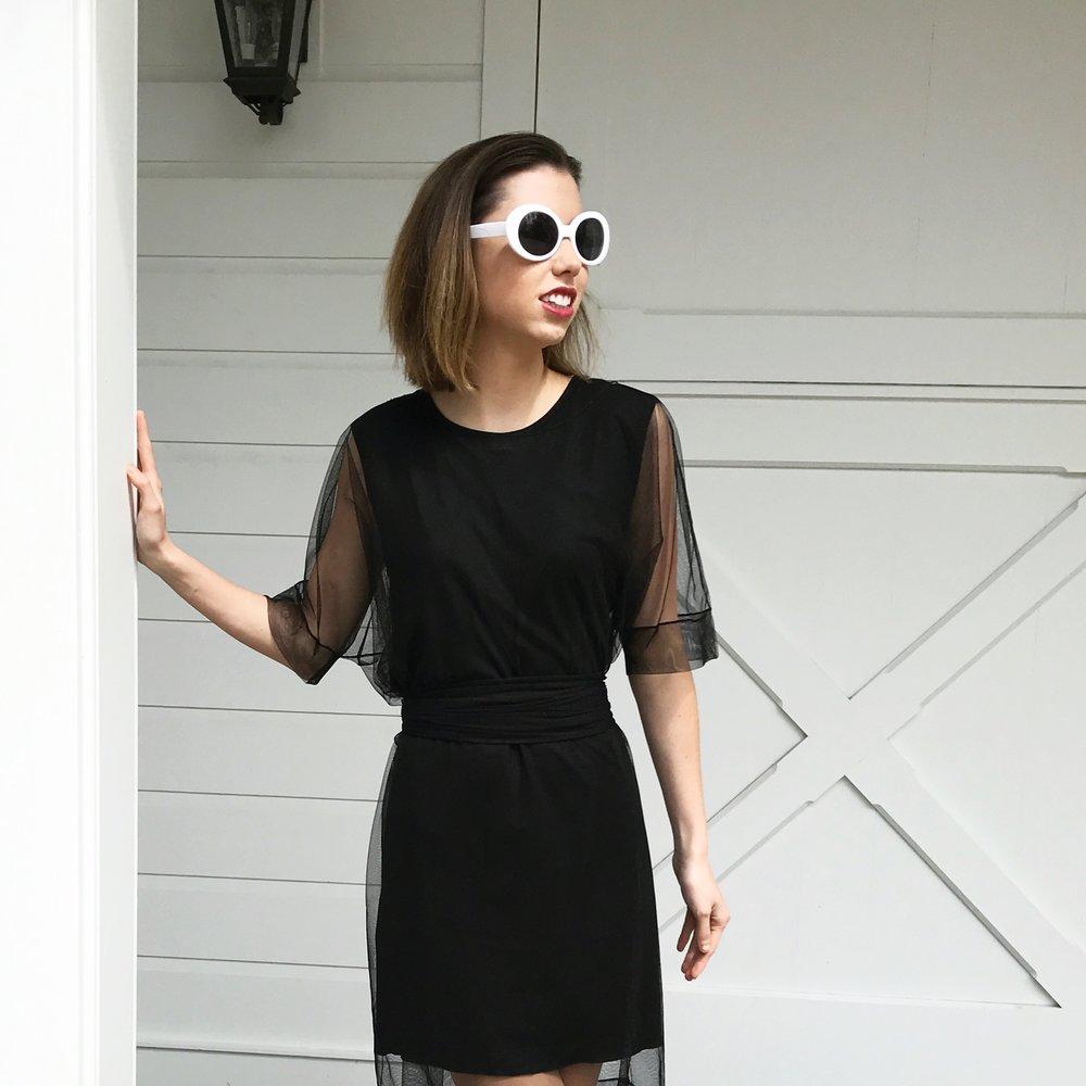 Luxury Unique Travel Set (Black Dress and Transparent Dress/Scarf)