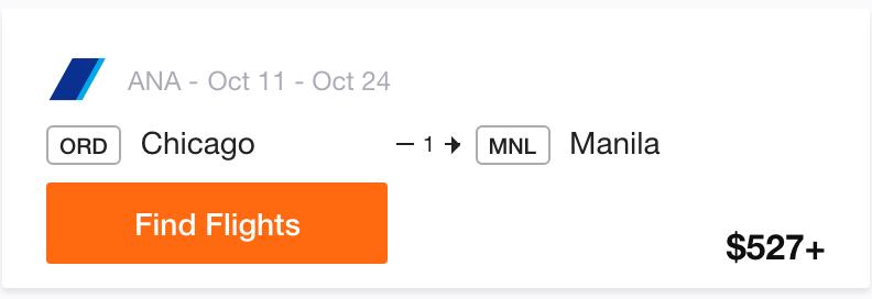 ORD to Manila