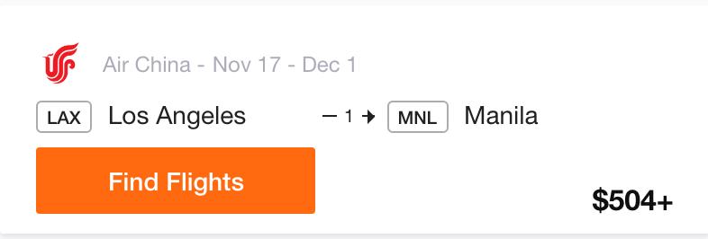 LAX to Manila