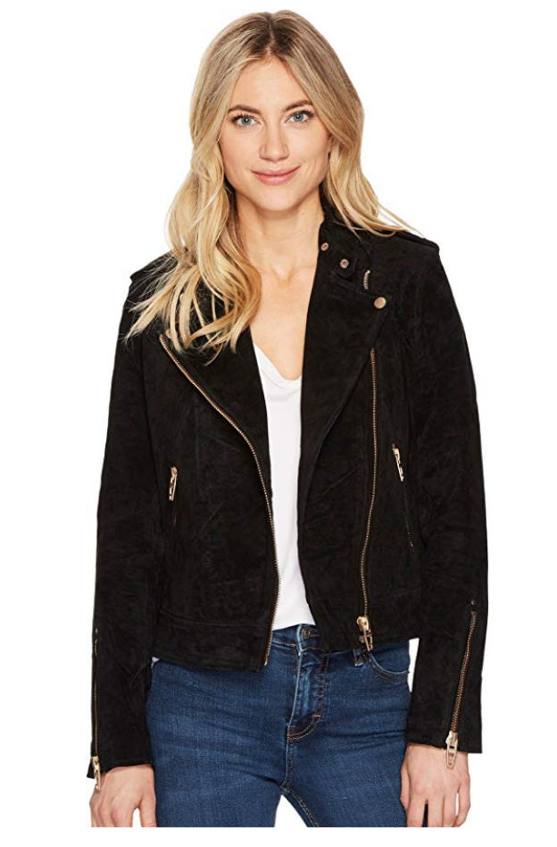 Blank NYC Black Suede Jacket