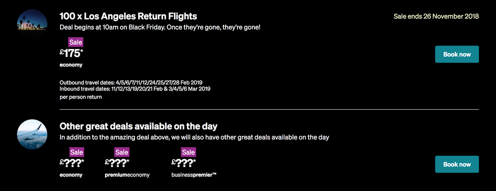Air New Zealand Black Friday