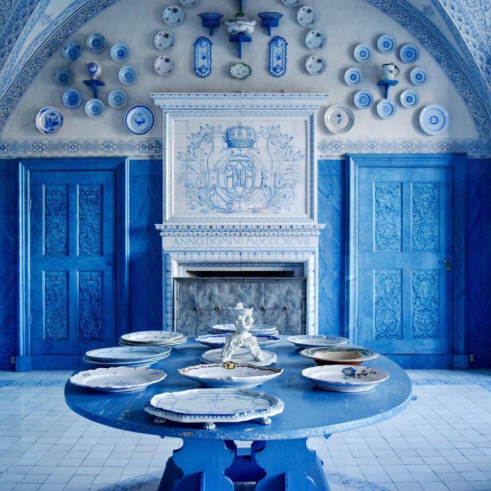 Drottningholm Palace - Blue Room