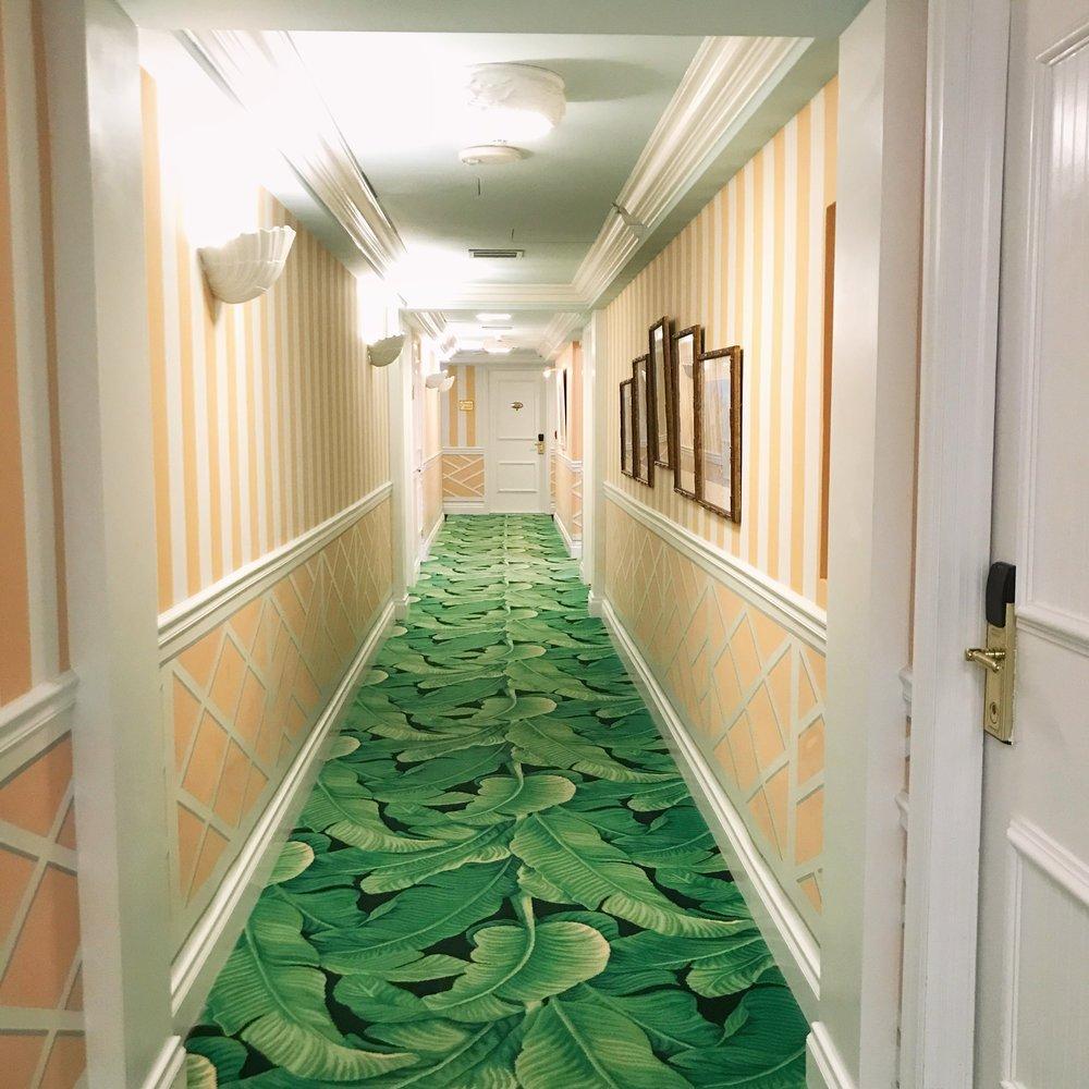 The Colony Palm Beach hallway