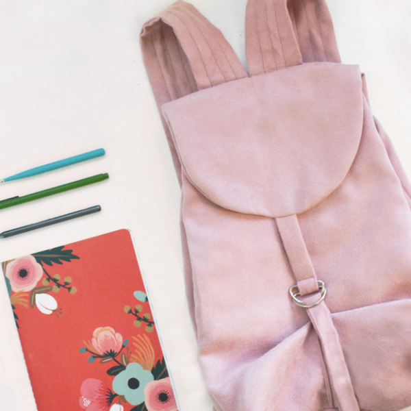 1b5ea5bad199 This sweet little backpack is as easy to make as it is cute. All you need  is a few supplies and some basic sewing skills. You ll make your pattern  pieces ...