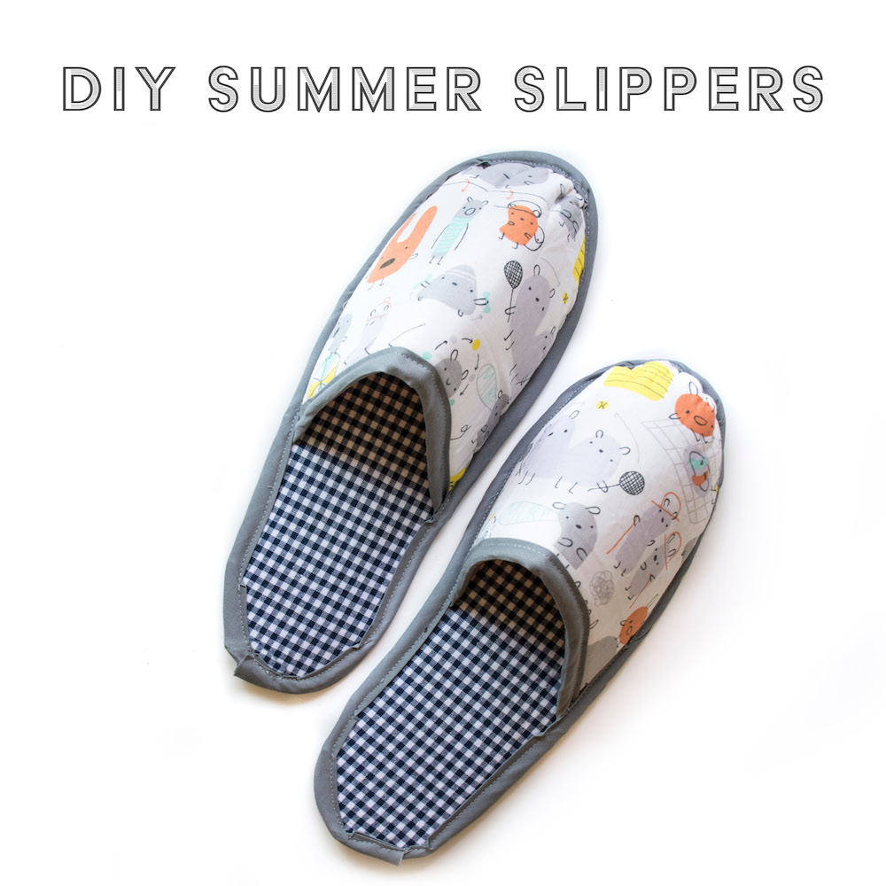 DIY Summer Slippers — Friday Pattern Company