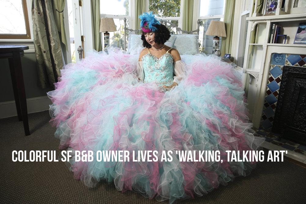 Colorful SF B&B owner lives as 'walking, talking art': Shelia Ash | SF Chronicle