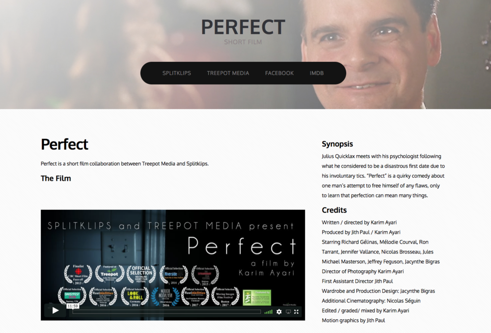 Perfect was a collaboration between Treepot Media and SplitKlips