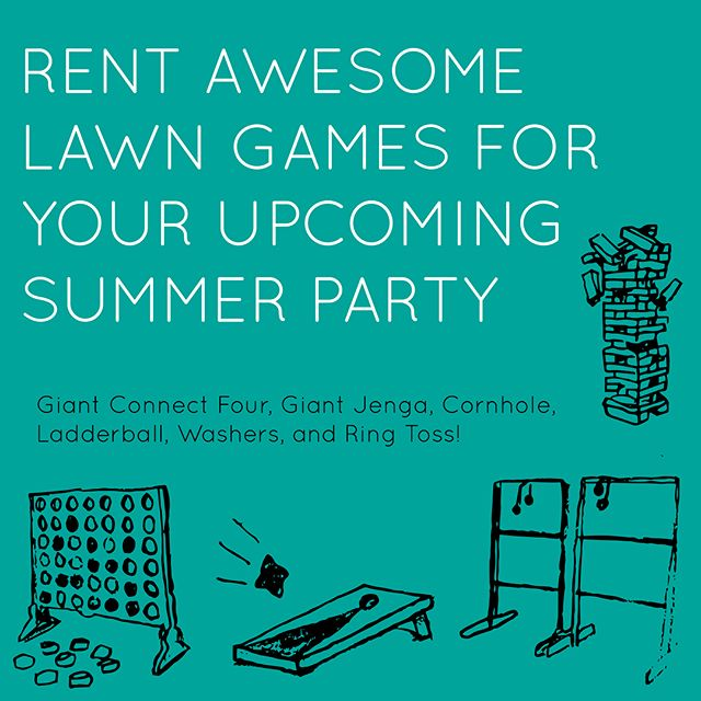 Summer is just around the corner! Book with us today to bring fun games to your upcoming outdoor party.