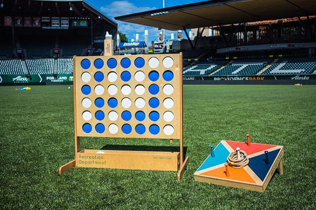 Hello from Providence Park!  #yardgames #partygames #pdx #portlandtimbers #portlandthorns #giantconnectfour