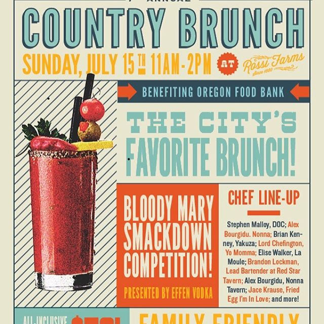 We're once again honored to take part of Portland Monthly's Country Brunch for the third year in a row! What's even more exciting is that they've expanded into a full-on weekend food festival: Cowabunga! An all you-you-can-eat food festival featuring all star chefs, brewers, and more! July 13-15th at Rossi Farms. Check out cowabunga.pdxmonthly.com for all the event details.  We'll have fun games to play at the Barn Bash and Country Brunch. Tickets are still available!  @pomomagazine @yakuzapdx @the_grant_house @SmokehouseTavern  @athleticawards #cowabungaportland #portlandeats #pomoevents @wildrootsspirits @lagunitasbeer @BigGreenEgg @urbanitepdx #portlandmonthly #pdxeats #pdxfood @sakeoneoregon #cowabunga #portlandeats #pomoevents  @parkkitchen #TaqueriaNueve @glenfiddichwhisky @EffenVodka @moonstruckchoc @DriveToyota @countrynaturalbeef @oregoncountrybeef @carmanranch