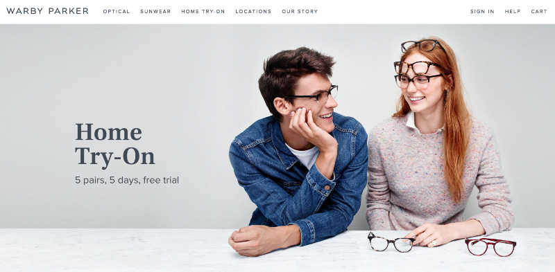Home Try-On? Heck yeah! Warby Parker wins.