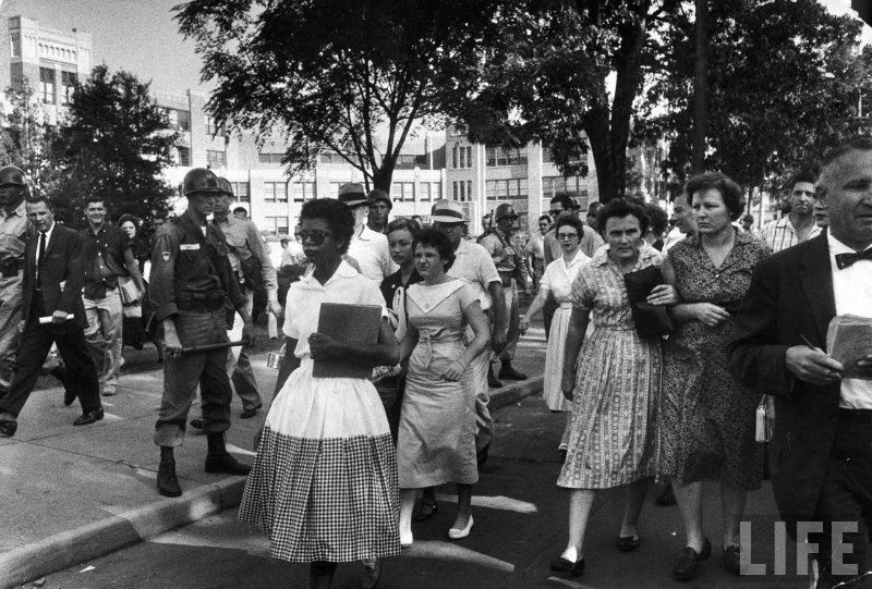 The Little Rock Nine — Little Rock Central High, 1957
