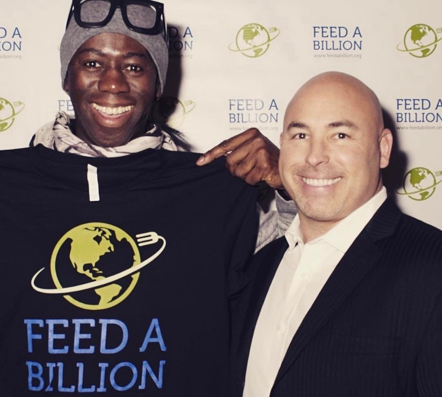 Miss J. Alexander, judge for America's Top Model, with Jason Sisneros, FAB CEO (Image courtesy of Feed a Billion)