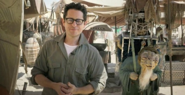J.J. Abrams at work on Star Wars: The Force Awakens