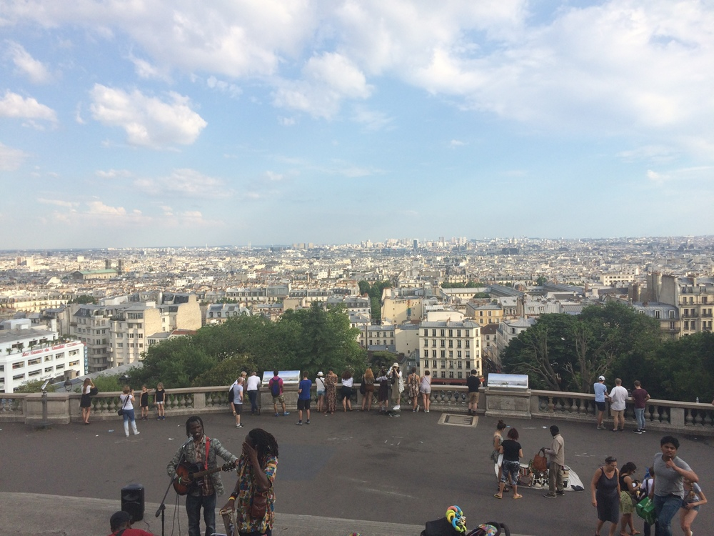 View from the top of the hill at Sacre-Cœur.