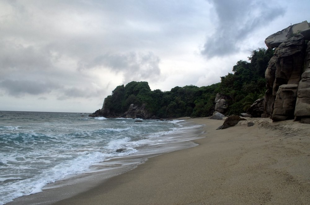 End of the Mirador trail at Parque Tayrona