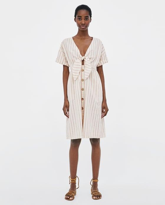 Zara Striped Dress w/ Knot