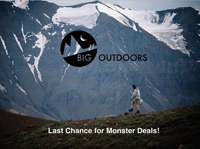 Last chance for sales! 60%+ off until Wednesday! After that... it's @garagegrown time! Link in our bio @bigoutdoors