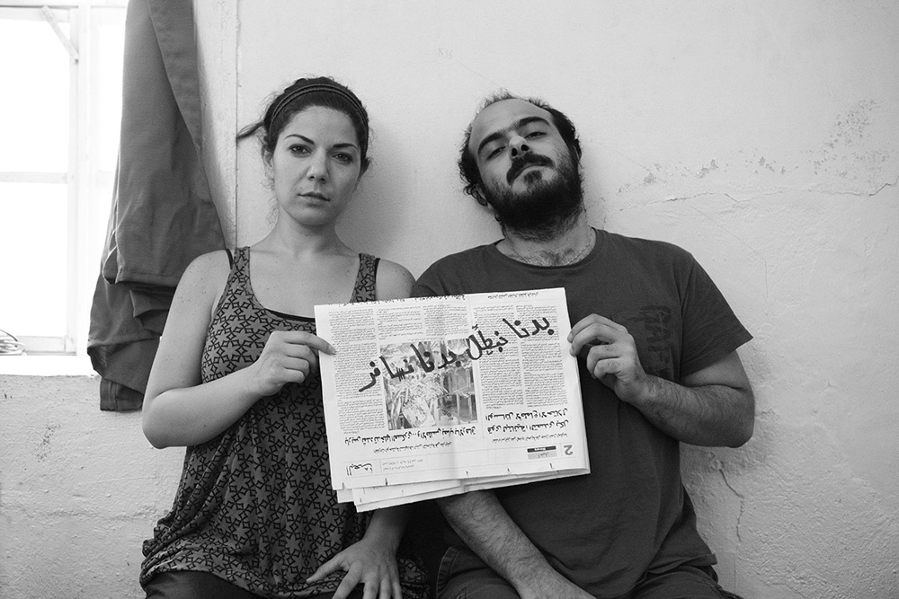 """ we don't want to leave "" Rami Hammour & Zeina Salem - Architect & Sculpture, Damascus 12/7/2011  30x45cm ed of 3+1AP Printed on Cotton Rag Fine Art Archival paper"