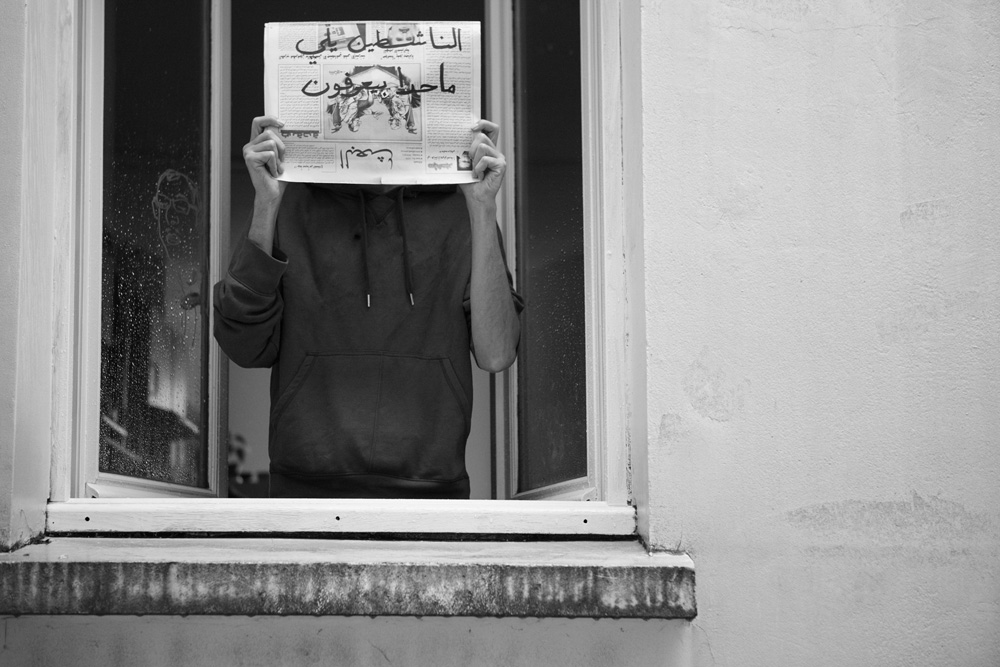 """the anonymous activists"" Baraa Kellizy, Brussels 15/7/201  30x45cm ed of 3+1AP Printed on Cotton Rag Fine Art Archival paper"