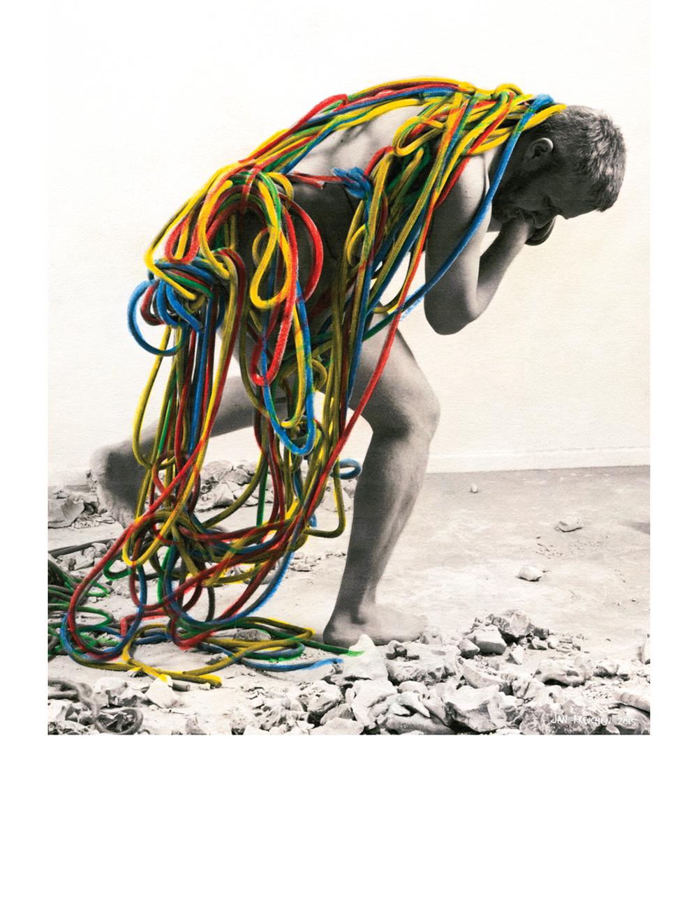 """""""Olympia"""" av Jan Freuchen, en kunstnerisk kommentar til Norske Billedkunstnere sin kampanje #utstillingsavtalen."""