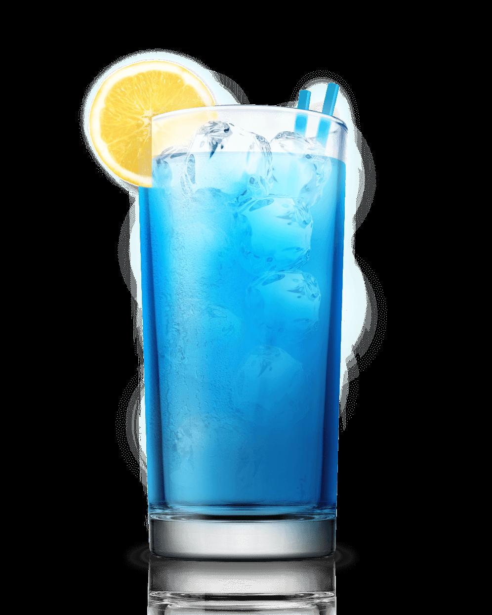 Blue Lagoon - Blue Curacao 0,5 deelVodka 1 deel = 30 ml Sprite / 7up 3 delenCitroensap van een halve citroen