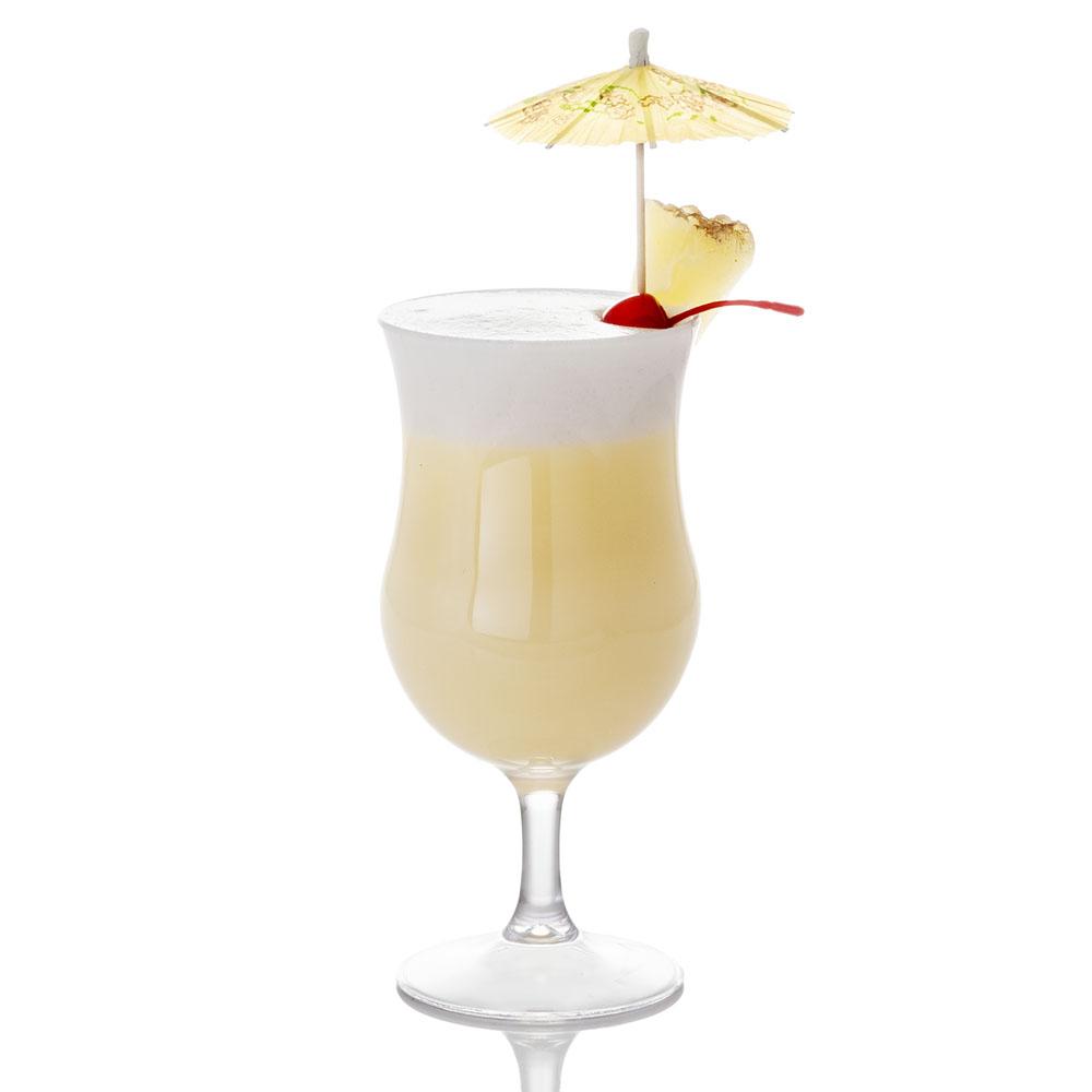 Pina Colade - Witte rum 30 mlVloeibare room 1 eetlepelAnanassap 30 mlKokosmelk 30 ml