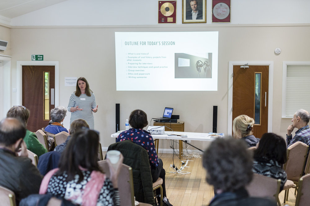 Delivering oral history training for Thames Festival Trust © Hydar Dewachi