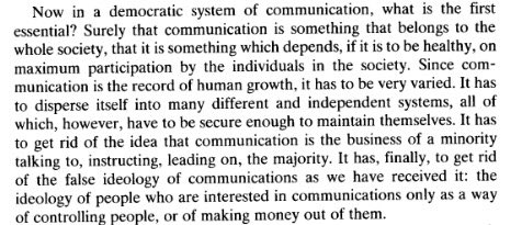 Raymond Williams, 1961