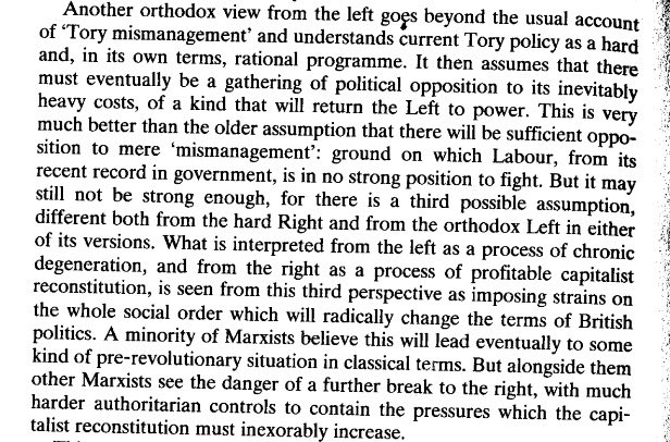 Raymond Williams, 1984