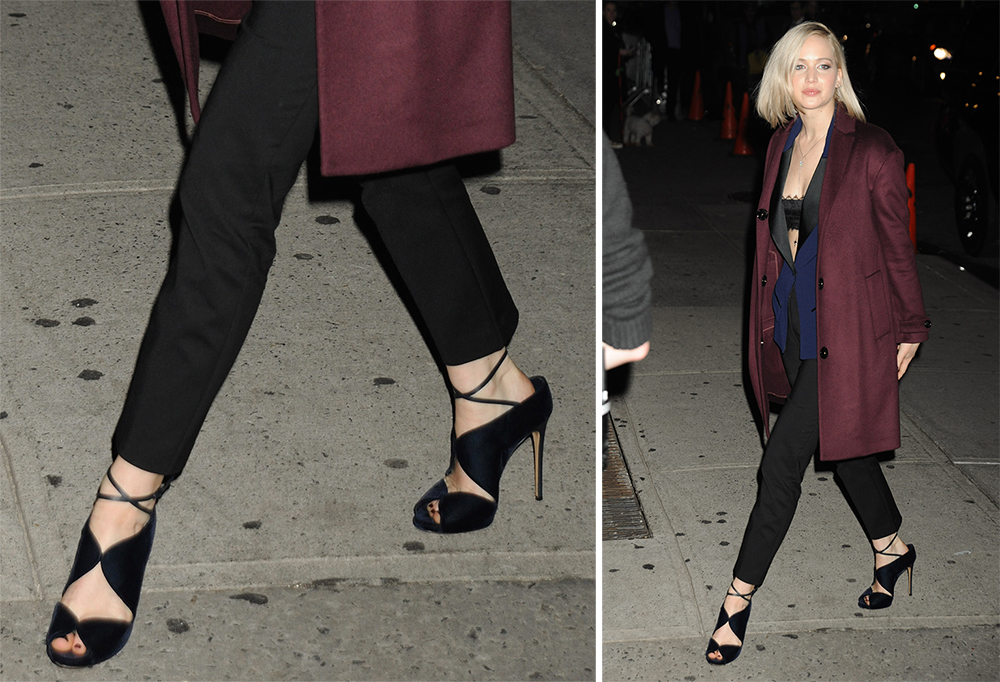9be039efc5f7 SPOTTED  Jennifer Lawrence wearing Casadei Shoes. — Amicci