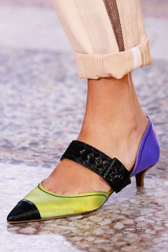 5. The Luxe Slingback.  - Bottega Veneta went low and mighty this season.